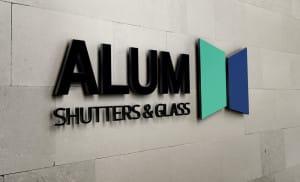 Alum Shutters and Glass (Logo Design)