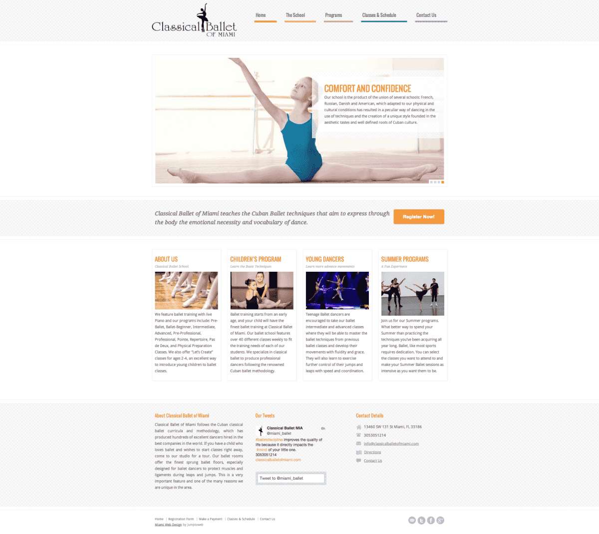 Classical Ballet of Miami - Web Design
