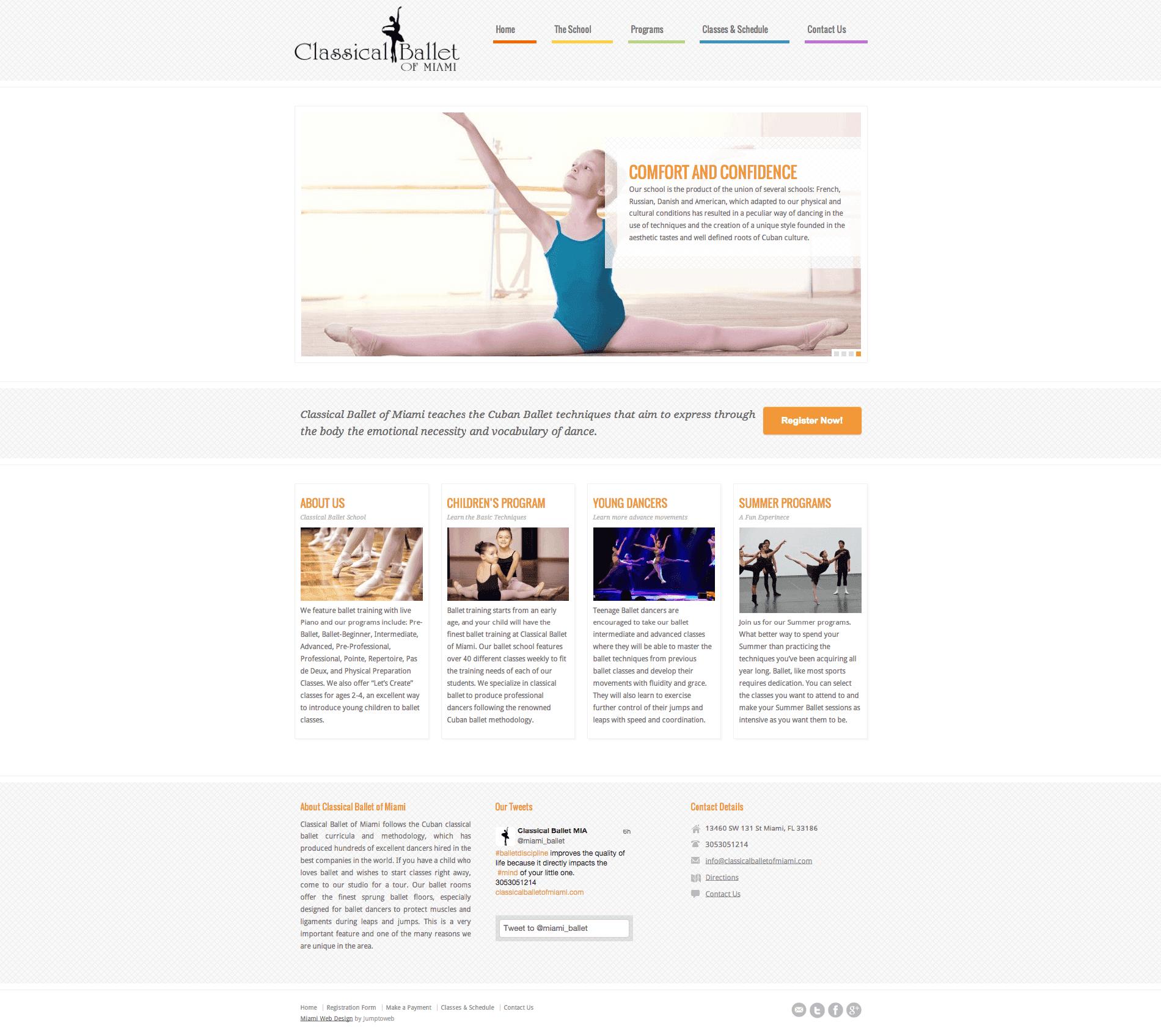 Classical Ballet Web Design Jumptoweb