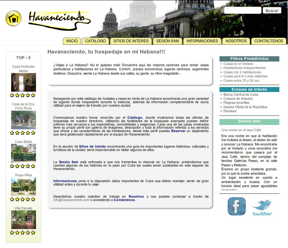 Havaneciendo - Web Design