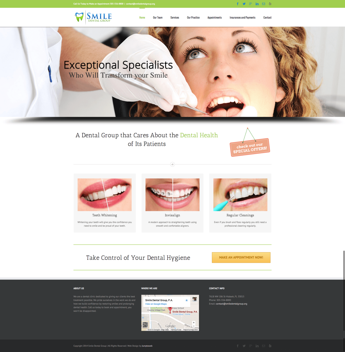Smile Dental Group - Web Design