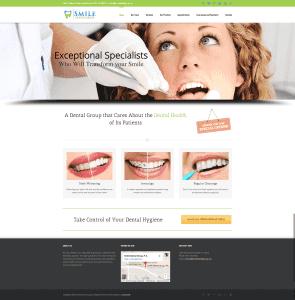 Smile Dental Group - Web Design