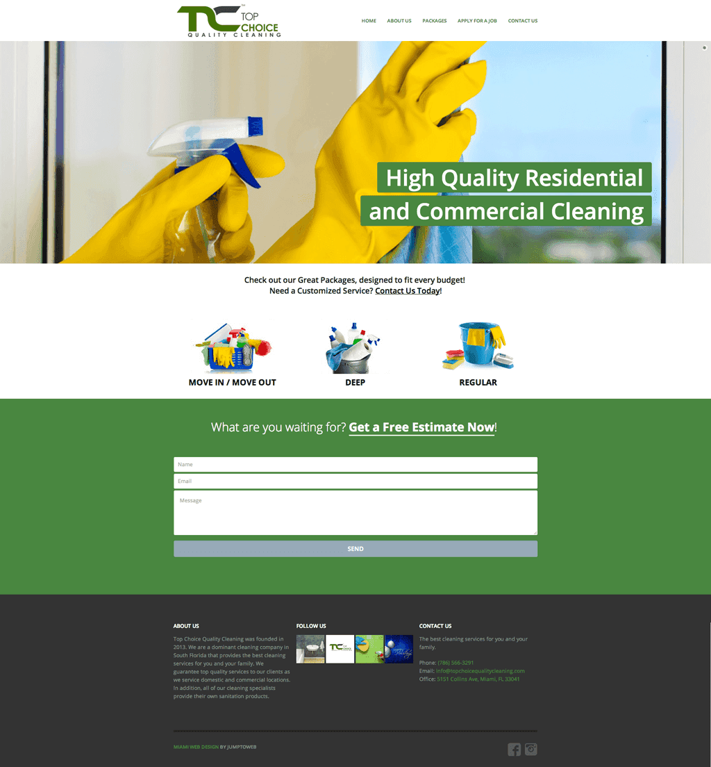 Top Choice Quality Cleaning - Web Design